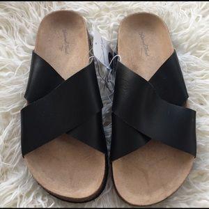 Criss-Cross Black Sandals
